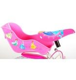 Disney Princess 14 inch meisjesfiets twee handremmen wit / roze