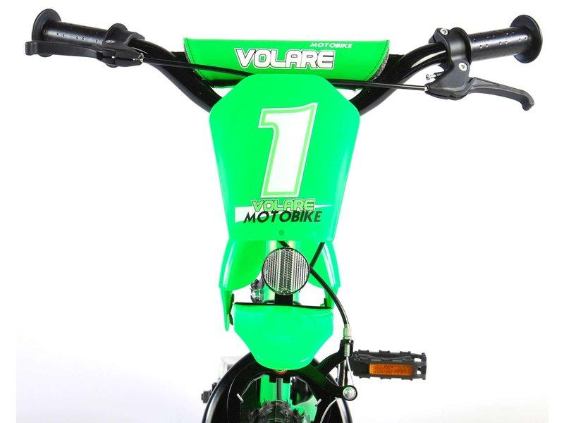 Volare Motorbike 12 inch jongensfiets groen