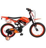 Volare Motorbike 16 inch jongensfiets twee handremmen oranje