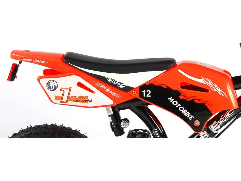 Volare Motorbike 12 inch jongensfiets twee handremmen oranje