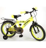 Volare Thombike City Neon 16 inch jongensfiets twee handremmen neon geel