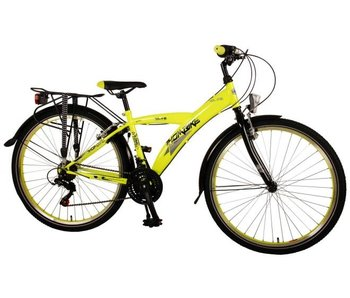 Volare Thombike City 26 inch jongensfiets Shimano 21-speed neon geel zwart