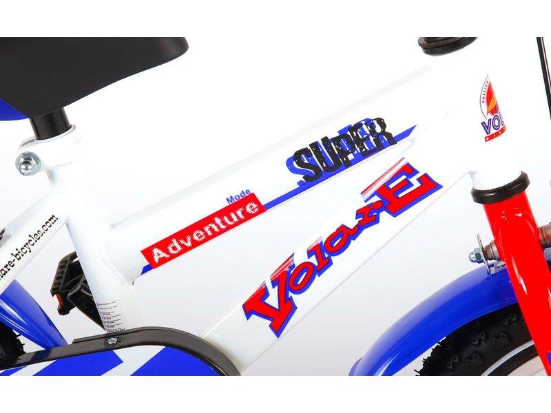 Volare Super 12 inch jongensfiets wit / blauw
