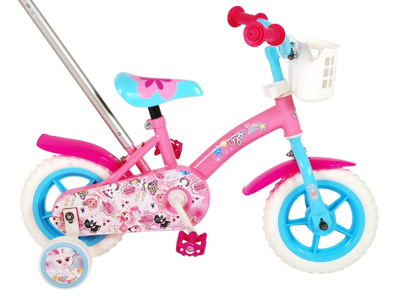 OJO 10 inch meisjesfiets roze blauw