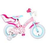 OJO 12 inch meisjesfiets roze blauw