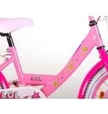 LOL Surprise 18 inch meisjesfiets twee handremmen roze