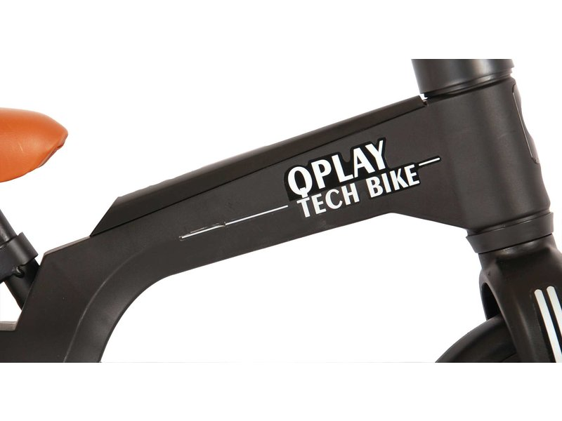 Q-Play Tech 10 inch loopfiets zwart