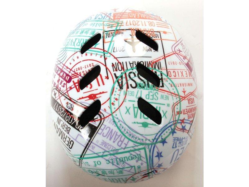Volare Skatehelm Travel the World 55-57 cm wit