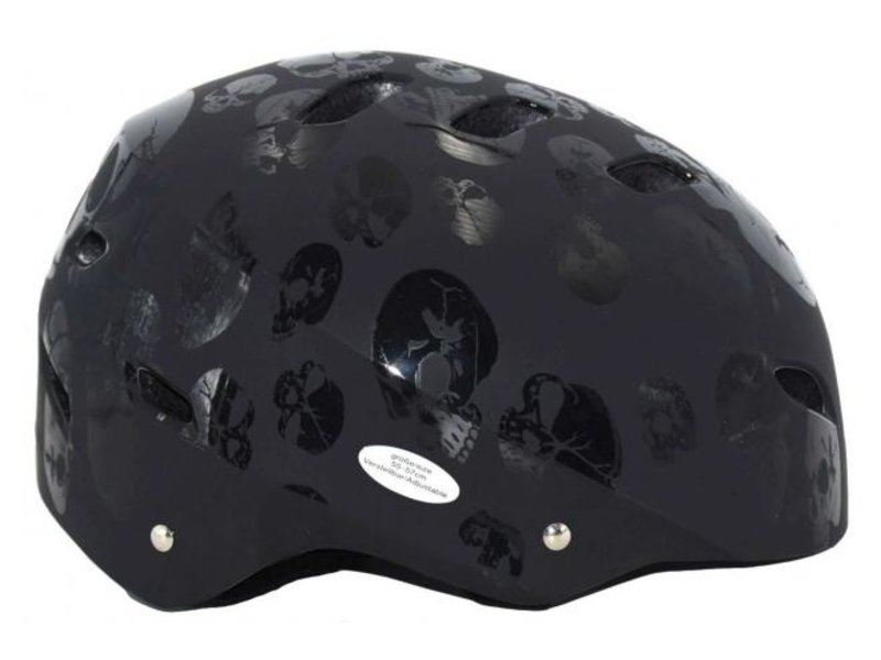 Volare Skatehelm Skull 55-57 cm zwart