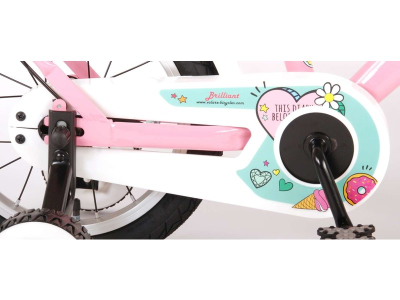Volare Brilliant 14 inch meisjesfiets roze