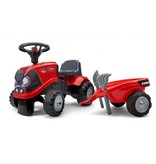 Falk Baby Case IH Ride-On Tractor rood