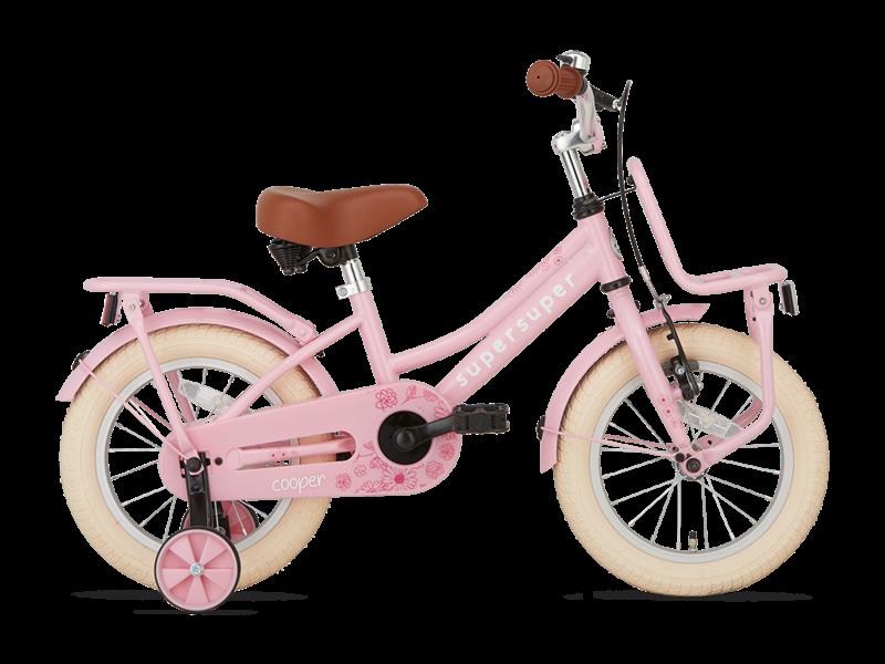 Popal Cooper 14 inch Meisjesfiets Roze
