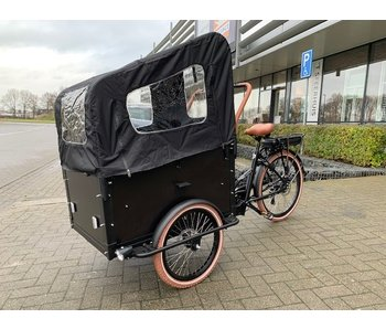 Troy Elektrische Bakfiets Black/Brown