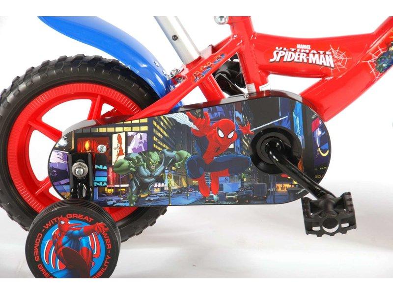 Ultimate Spider-Man 10 inch jongensfiets rood