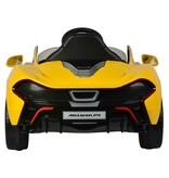 McLaren P1 Elektrische Auto met Afstandsbediening 12 Volt Yes 3 gears geel zwart