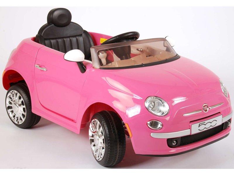 Fiat 500CC Elektrische Auto met Afstandsbediening 12 Volt Yes 3 gears roze