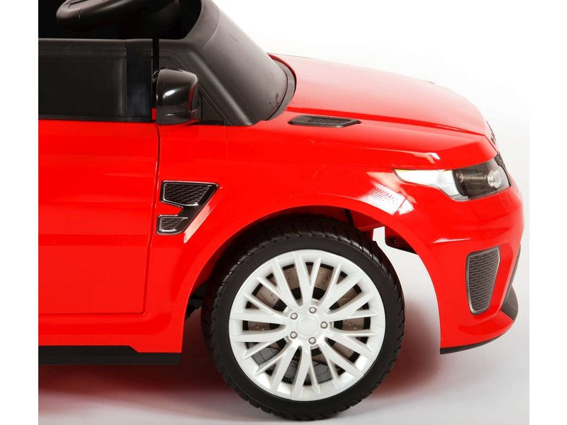 Range Rover Sport SVR Elektrische Auto met Afstandsbediening 12 Volt Yes 3 gears rood