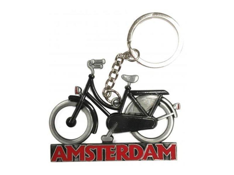 Sleutelhanger Amsterdam Tin zwart tin