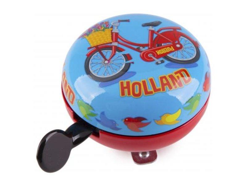Holland Fietsbel 80 mm rood blauw