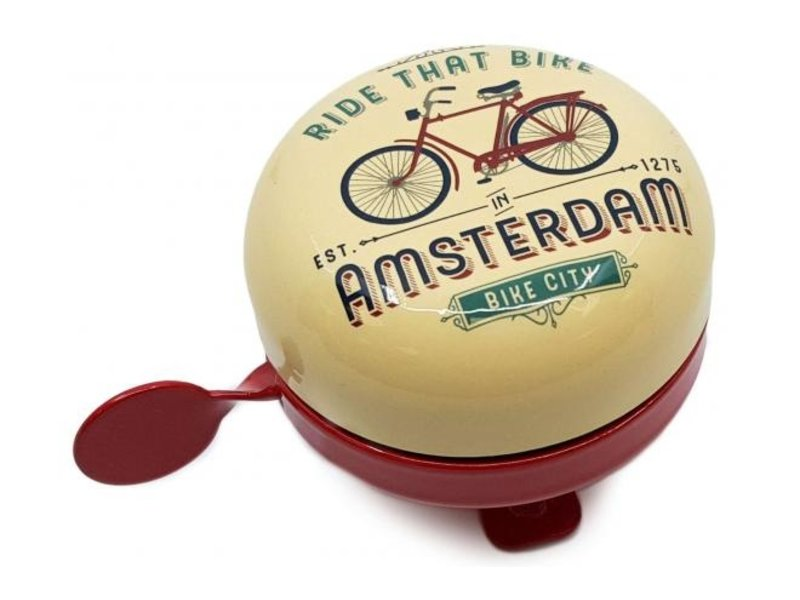 Amsterdam Fietsbel Ride that Bike Vanille 58 mm vanille rood