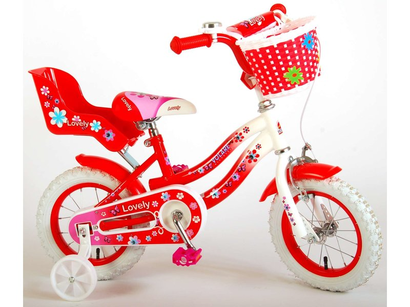 Volare Lovely 12 inch meisjesfiets rood / wit