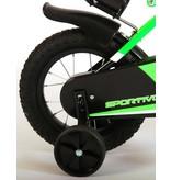 Volare Sportivo Neon 12 inch jongensfiets zwart neon groen