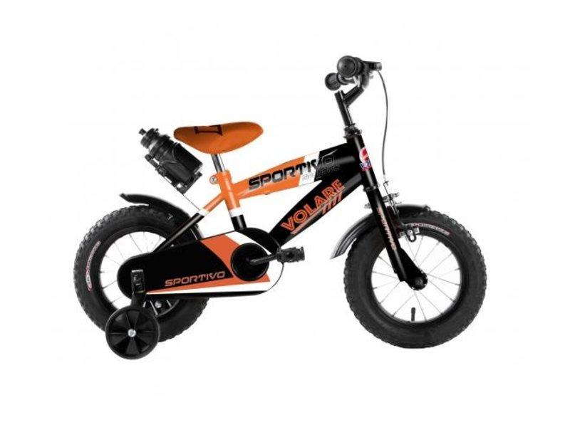 Volare Sportivo Neon 12 inch jongensfiets neon oranje zwart
