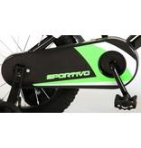 Volare Sportivo Neon 14 inch jongensfiets zwart neon groen