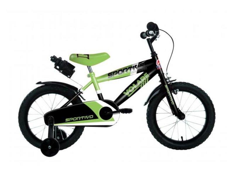 Volare Sportivo Neon 16 inch jongensfiets zwart neon groen
