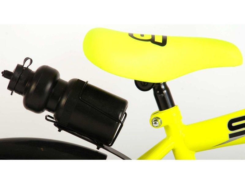 Volare Sportivo Neon 16 inch jongensfiets neon geel zwart
