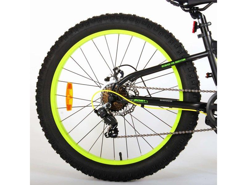 Volare Gradient – – – – 7 speed – 24 inch jongensfiets Ja, 7 versnellingen zwart groen geel