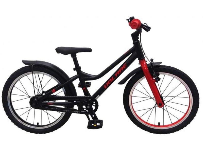 Volare Blaster 18 inch jongensfiets zwart rood