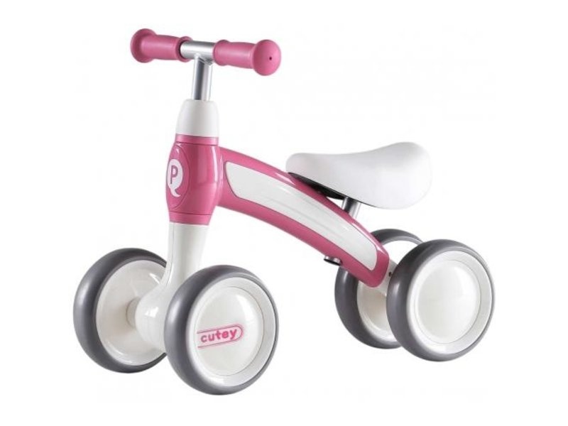 Q-Play Cutey Ride On loopfiets roze