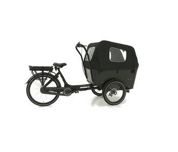 Vogue E-bike bakfiets Carry Middenmotor Black