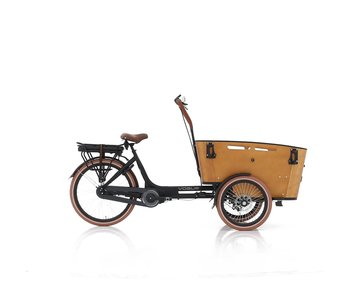 Vogue E-bike bakfiets Carry middenmotor zwart/bruin