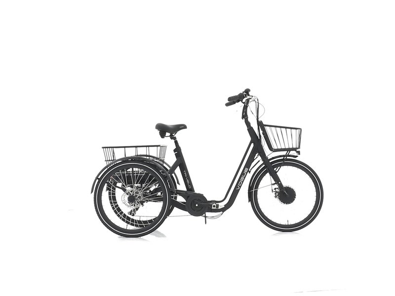 Vogue Tri-Velo elektrische driewieler mat grijs