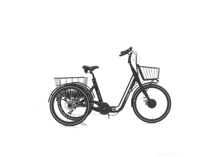 Vogue Tri-Velo elektrische driewieler matt zwart