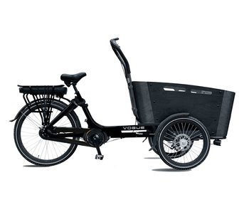 Vogue E-bike bakfiets Carry Middenmotor Black