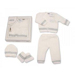 Gebreide winter newborn set 4 delig  ''Dave''