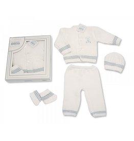 Gebreide winter newborn set 4 delig  ''Dion''