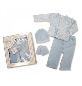 Gebreide winter newborn set 4 delig  ''James''