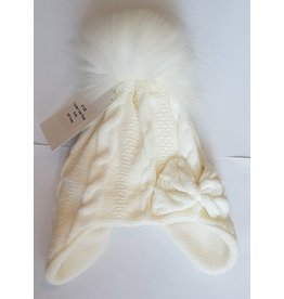 Winter muts Cable Pompom Ivory