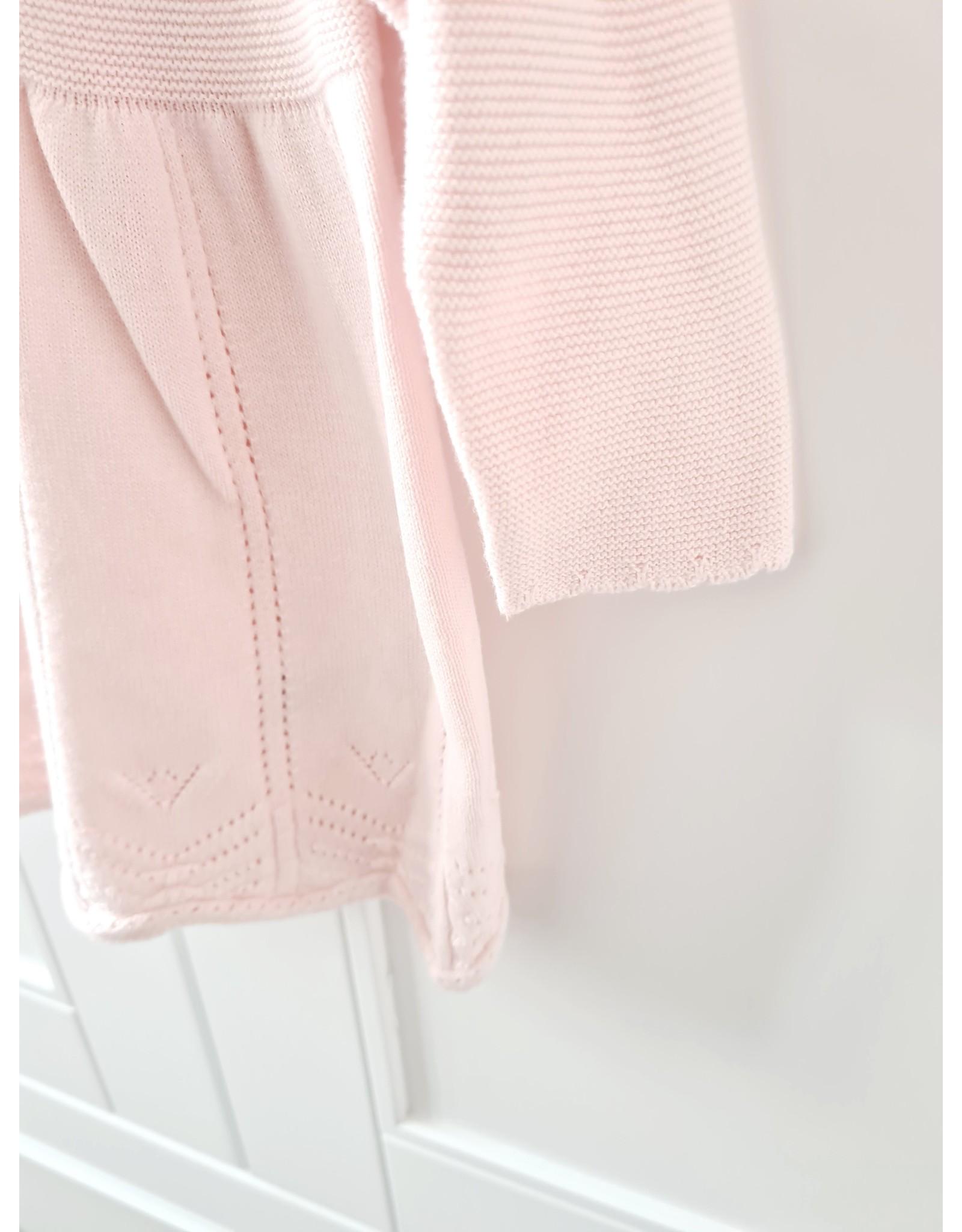 Babyjurkje roze fijn gebreid