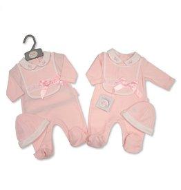 Babyset 3-delig Roze