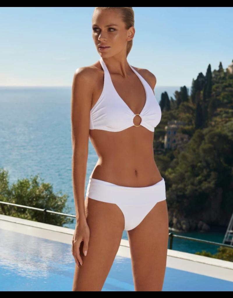 Melissa Odabash Melissa Odabash Brussels Bikini White Ribbed halterneck