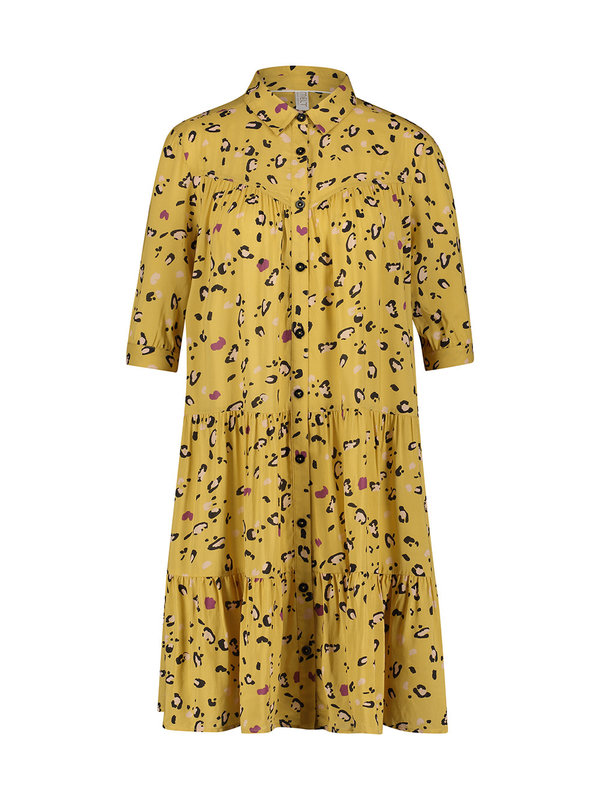 Melt Nomads Blouse Dress Leopard Yellow