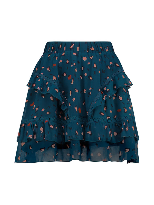 Melt Nomads MELT Nomads Skirt Frill Leopard Blue