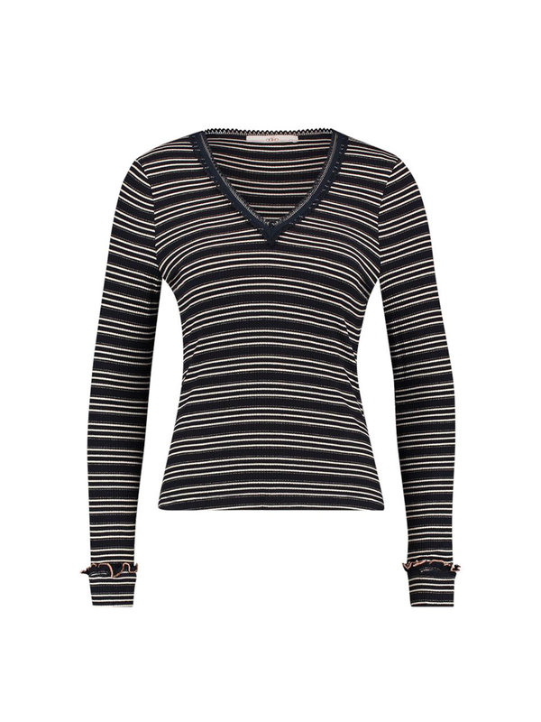 Aaiko Elodia Top Stripes Night Blue