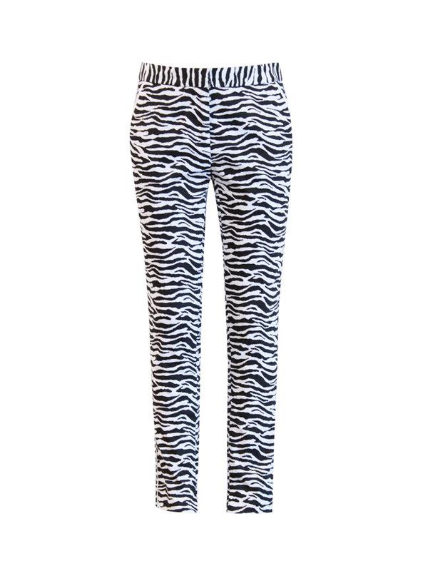 Aaiko Pants Parien Zebra Black / White