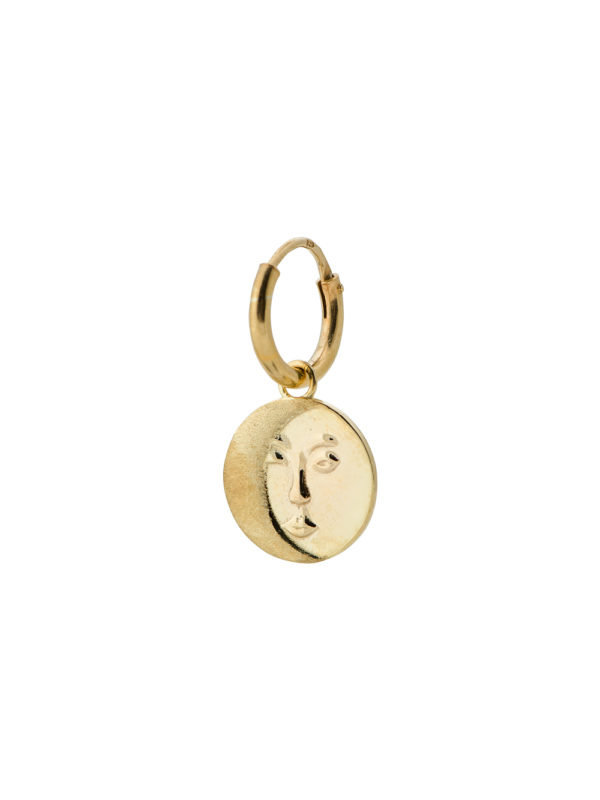 Anna + Nina Single Lunar Ring Earring Gold
